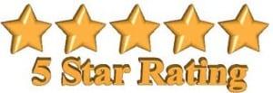 Zapper 5 Star Rating